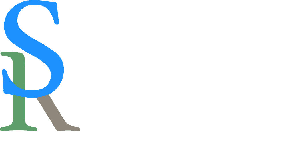 Stone Path Realty Logo (White)